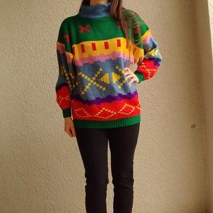 Vintage Avon Fashions Oversized Turtleneck Sweater